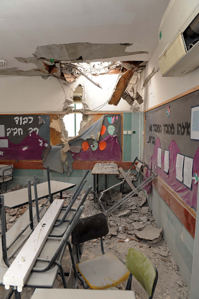 Beersheva_kindergarten_after_rocket_attack_from_Gaza